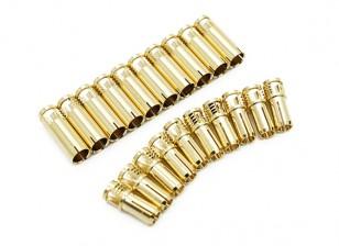 5mm Supra X Gold Bullet Connectors (10 pairs)