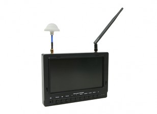 7 inch 800 x 480 40CH Diversity Receiver Sun Readable FPV Monitor w/DVR Fieldview 777SB (US plug)