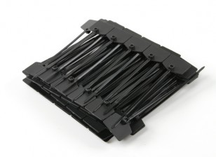 Cable Ties 120mm x 3mm Black with Marker Tag (100pcs)
