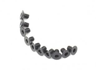 Screw Countersunk Hex M3x5mm Machine Thread Steel Black (10pcs)
