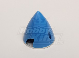 Nylon Spinner with Alloy Backplate 63mm Blue