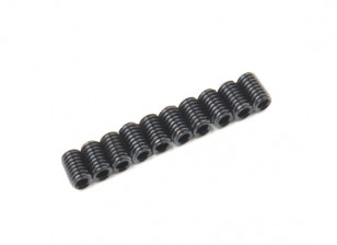 Screw Grub Hex M3x5mm Machine Thread Steel Black (10pcs)