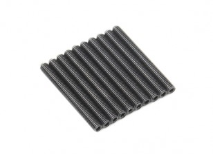 Screw Grub Hex M3x28mm Machine Thread Steel Black (10pcs)