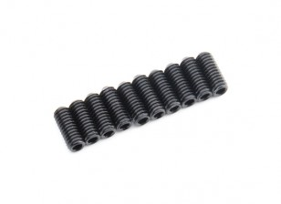 Screw Grub Hex M4 x 10mm Machine Steel Black (10pcs)