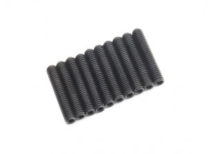 Screw Grub Hex M4 x 22mm Machine Steel Black (10pcs)