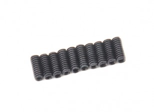 Screw Grub Hex M2 X 5mm Machine Steel Black (10pcs)