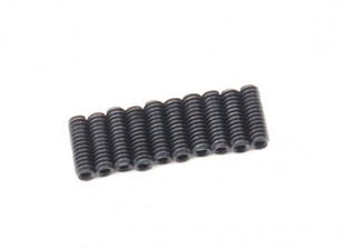 Screw Grub Hex M2 X 6mm Machine Steel Black (10pcs)