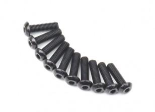 Screw Button Head Hex M5 x 18mm Machine Steel Black (10pcs)