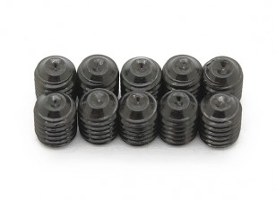 Screw Grub Hex M5 x 6mm Machine Steel Black (10pcs)