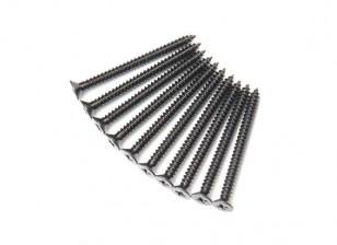 Screw Flat Head Phillips M2.6x30mm Self Tapping Steel Black (10pcs)