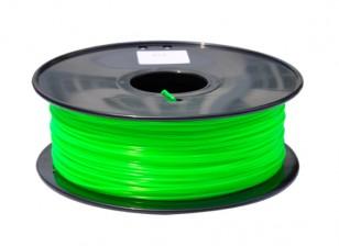 HobbyKing 3D Printer Filament 1.75mm PLA 1KG Spool (Fluorescent Green)