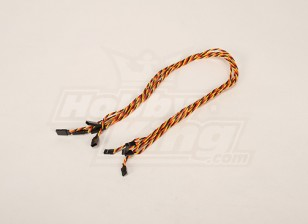 Twisted 60CM Servo Lead Extention (JR) 22AWG (5pcs/bag)