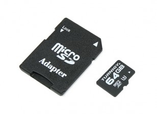 Turnigy 64GB U3 Micro SD Memory Card (1pc)