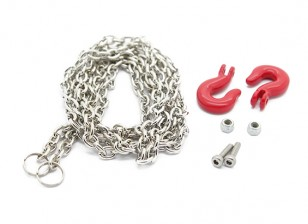1/10 Scale Aluminum Hook (Large) with Steel Chain