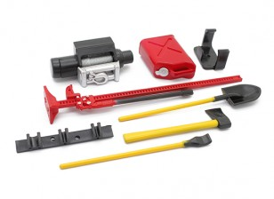 1/10 Scale Defender Accessory Set with Dummy Winch - Red