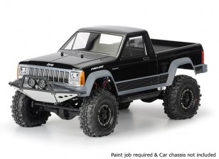 """Pro-Line Jeep Comanche Full Bed Clear Body Shell 1/10 for 12.3"""" Wheelbase Scale Crawlers"""