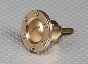CNC Alloy Fuel Filler Port for Large scale gas/turbine models (Fuel Dot - Gold)