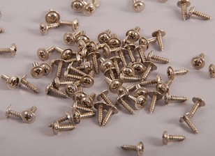 Self Tapping Machine Screw M2.3x6mm Phillips Head W/Shoulder (100pcs)