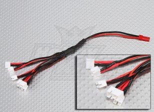 2 Pin JST to 6 x E-Flight Ultra Micro plug Charging Harness