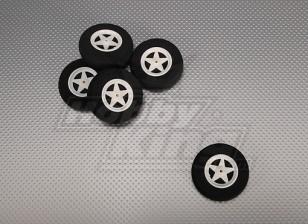 5 Spoke Wheel Shock Absorbing D60xH18mm (5pcs/bag)