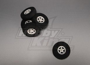 5 Spoke Wheels Shock Absorbing D75xH18mm (5pcs/bag)