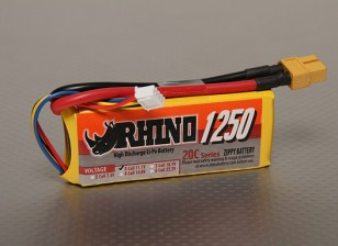 Rhino 1250mAh 3S1P 20C Lipoly Pack