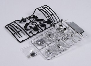 1/10 Scale Accessory Set Inc Brake Discs/Wipers/Intercooler/Mirrors/Chrome Tailpipes