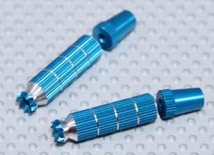 Alloy Anti-Slip TX Control Sticks Long (Futaba TX Blue)