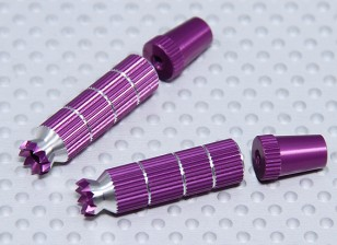 Alloy Anti-Slip TX Control Sticks Long (Futaba TX Purple)