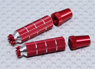Alloy Anti-Slip TX Control Sticks Long (JR TX  Red)