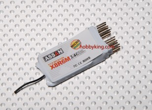 Assan X8 R6M 6Ch Micro 2.4GHz Receiver (Short Antenna)