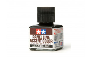 Tamiya Panel Line Enamel Accent Color Dark Brown (40ml)