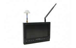 7 inch 800 x 480 40CH Diversity Receiver Sun Readable FPV Monitor w/DVR Fieldview 777SB (US plug)