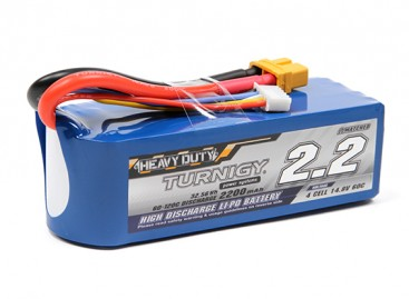 Turnigy Heavy Duty 2200mAh 4S 60C Lipo Pack w/XT60U Connector