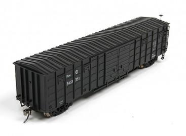 P64K Box Car (Ho Scale - 4 Pack) Black Set 2 Front