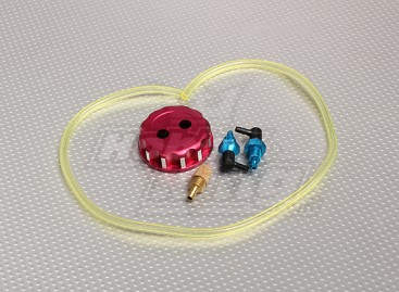 Alloy CNC Fuel tank/filler cap with fittings, pipe & filter