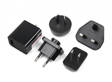 USB Power Supply 5v 2.5A with Interchangeable County Plugs (EU, US, UK, AU)