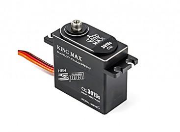 King Max CLS3015S High Torque/BB/DS/MG Servo 25T w/Alloy Case 35kg/0.13sec/80g
