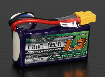 Turnigy nano-tech 1300mAh 3S 45~90C Lipo Pack