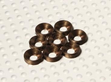 Countersunk Washer Anodised Aluminum M3 (Titanium Colour) (8pcs)
