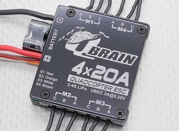 Q Brain 4 x 20A Brushless Quadcopter ESC 2-4S 3A SBEC