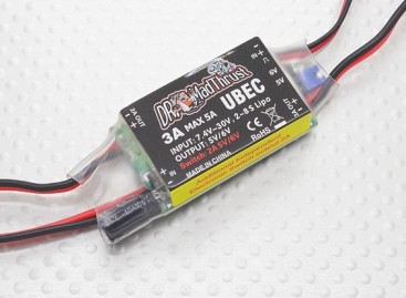 Dr. Mad Thrust series 3A BEC with Inbuilt Aux Controlled On/Off Switch for Accessories