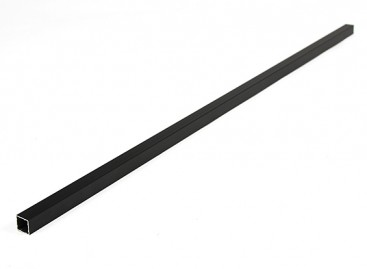 Aluminum Square Tube DIY Multi-Rotor 12.8x12.8x600mm (.5Inch) (Black)