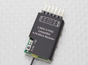 2.4Ghz A-FHSS Compatible 4CH Micro Receiver (Hitec Minima compatible)