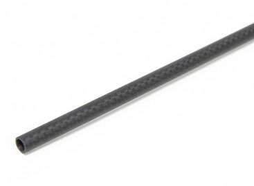 6 x 4 x 750mm Carbon Fibre Tube (3K) Plain Weave Matt Finish