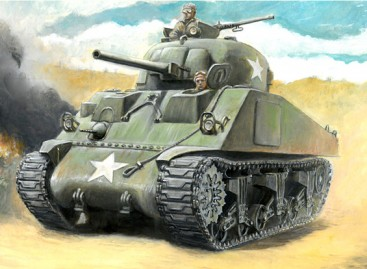 Italeri 1/56 Scale Italeri 1/56 US M4 Sherman 75mm Plastic Model Kit