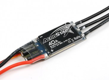 Aerostar 40A Electronic Speed Controller with 3A BEC (2~4S)