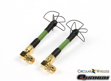 Quanum Circular Wireless SPW58 RHCP Antenna Race Set For 5.8GHz Transmitters (SMA)