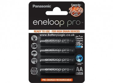 Panasonic Eneloop Pro Battery AA 2450mAh NiMH (4 Pack)