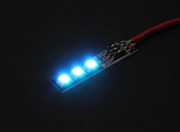 3 RGB LED 7 Color Board 12V with Female JST Plug